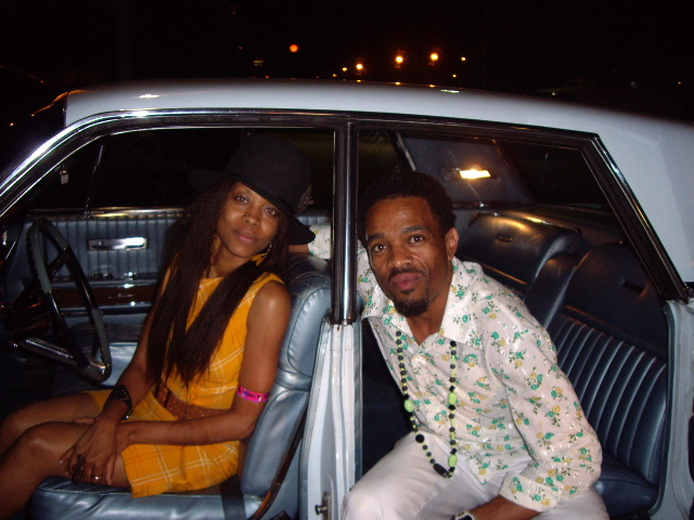 Badu's classic Lincoln with suicide doors..