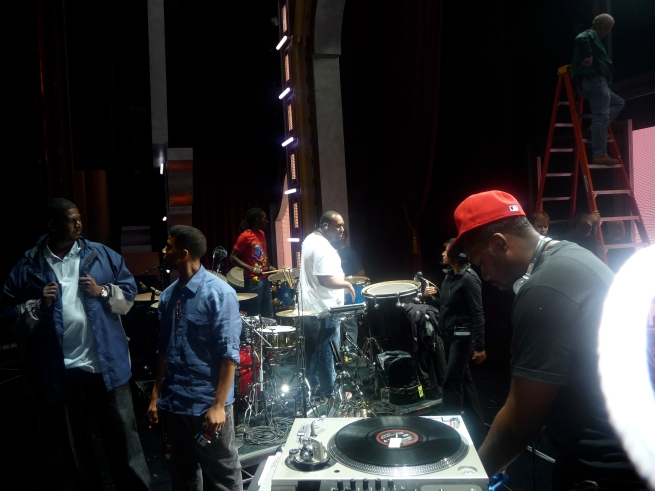1:00 p.m. ... gearing up for soundcheck.