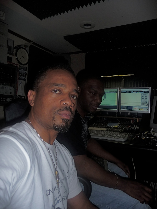 "Producer Edroc at ""the Edge of Madness studios"" in Queens..."
