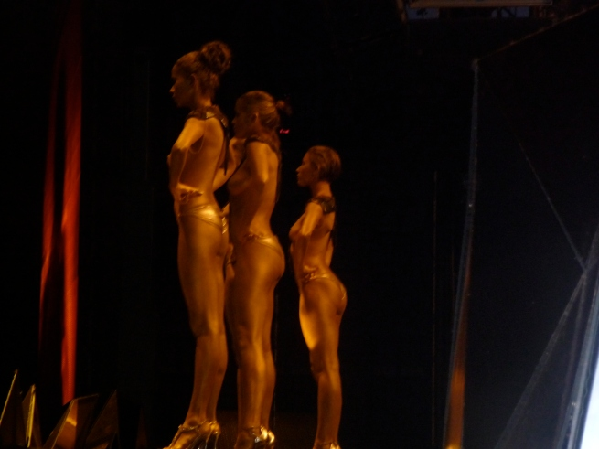 Oh yeah, we had topless dancers with gold body paint. Kool!