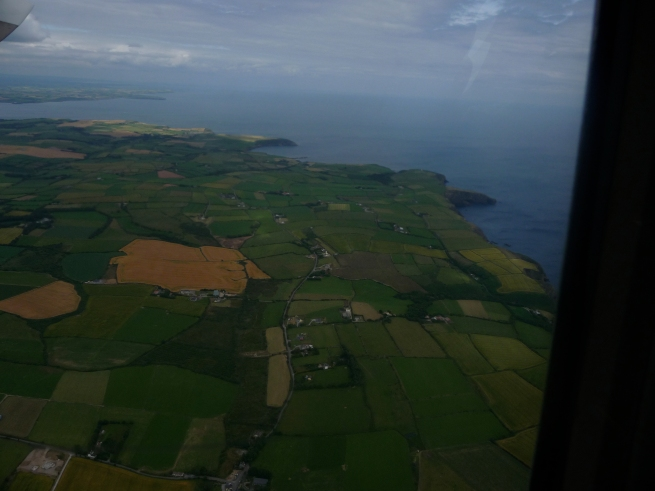 Ireland really is green.. I think I see a leperchan down there.