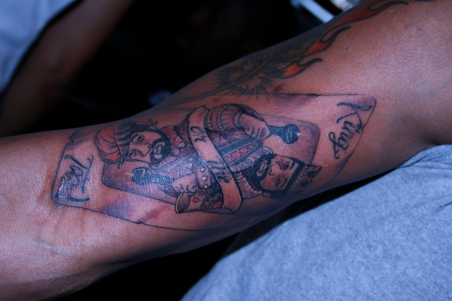 "the ""King or The Fool"" tat!!"